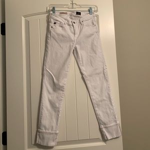 Women's white AG jeans